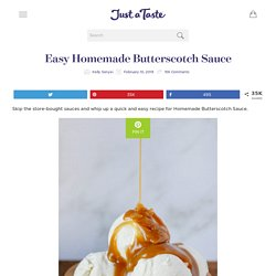 Easy Homemade Butterscotch Sauce