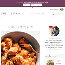 Homemade Cauliflower Gnocchi Recipe