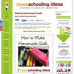 Homemade Chalk - How to Make Sidewalk Chalk