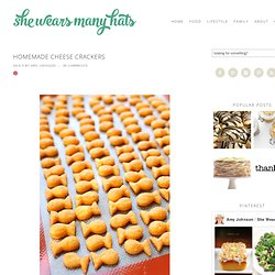 Homemade Cheese Crackers | She Wears Many Hats