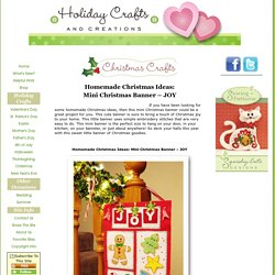Homemade Christmas Ideas: Mini Christmas Banner – JOY