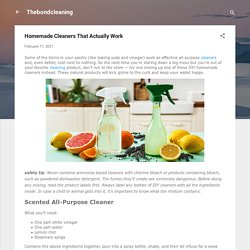 Homemade Cleaners That Actually Work