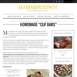"Homemade ""Clif Bars"" 