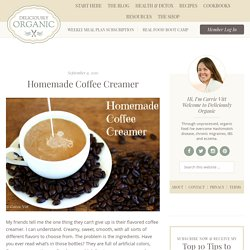 Homemade Coffee Creamer - StumbleUpon