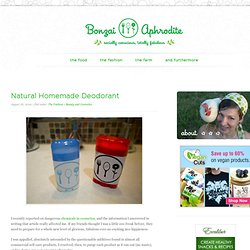 Natural Homemade Deodorant | Bonzai Aphrodite - StumbleUpon