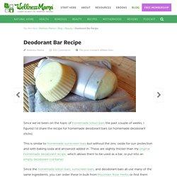 Homemade Deodorant Bar Recipe