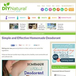 How To Make Deodorant [Homemade Easy and It Works]