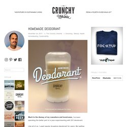 Homemade Deodorant | The Crunchy Urbanite