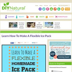 How To Make An Ice Pack [Flexible with Alcohol and Water]