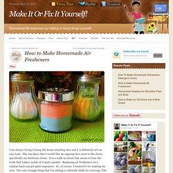 How to Make Homemade Air Fresheners