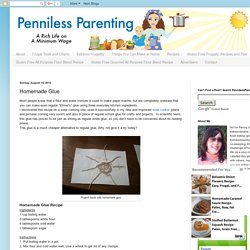 Penniless Parenting: Homemade Glue