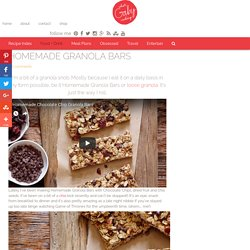 Homemade Granola Bars - What's Gaby Cooking