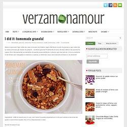 Ricette di cucina - Le ricette di Verzamonamour.com: I did it: homemade granola!
