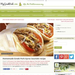 Homemade Greek Pork Gyros Souvlaki recipe