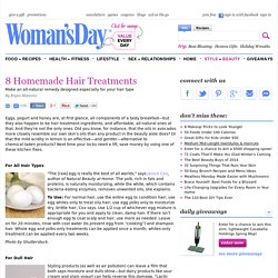 Homemade Hair Treatments - At-Home Hair Repair at WomansDay.com