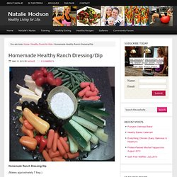 Homemade Healthy Ranch Dressing/Dip