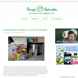 Homemade Holidays: Crock Pot Candles