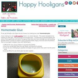 homemade glue - happy hooligans - corn syrup, vinegar and cornstarch
