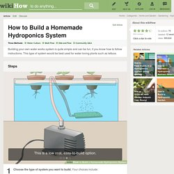 How to Build a Homemade Hydroponics System: 17 steps