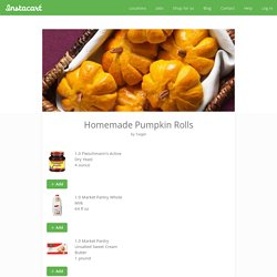 Homemade Pumpkin Rolls recipes and ingredients delivery — Instacart