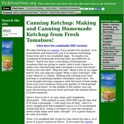 How to Make Homemade Ketchup from Fresh Tomatoes