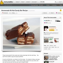 Homemade Kit Kat Candy Bar Recipe
