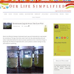 Homemade Liquid Soap, The Easy Way