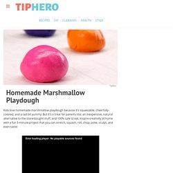 Homemade Marshmallow Playdough Recipe