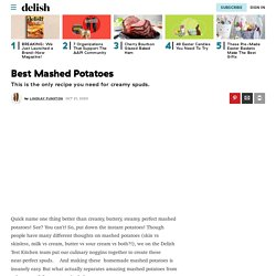 Best Homemade Mashed Potatoes Recipe - How to Make Mashed Potatoes