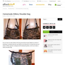 Homemade Military Shoulder Bag
