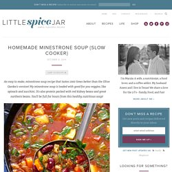 Homemade Minestrone Soup {Slow Cooker} Recipe