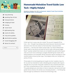 Homemade Moleskine Travel Guide: Low Tech—Highly HelpfulGuide to Budget Backpacking in Europe