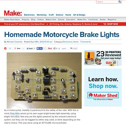 Homemade Motorcycle Brake Lights
