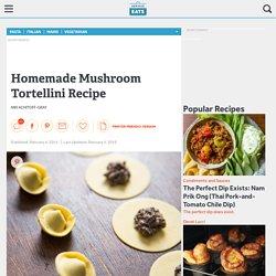 Homemade Mushroom Tortellini Recipe