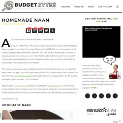 Homemade Naan - Budget Bytes