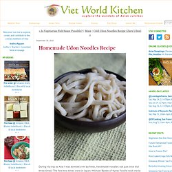 Homemade Udon Noodles Recipe - Viet World Kitchen