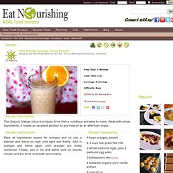 Homemade Orange Julius | Eat Nourishing