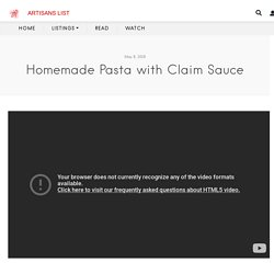 Homemade Pasta with Claim Sauce
