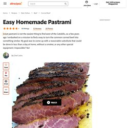 Easy Homemade Pastrami