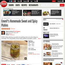 Sweet and Spicy Pickles Recipe : Emeril Lagasse
