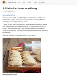 Polish Recipe: Homemade Pierogi