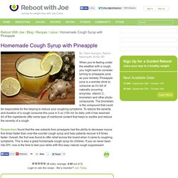 Homemade Cough Syrup with Pineapple