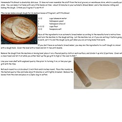 Homemade Pita Bread is absolutel