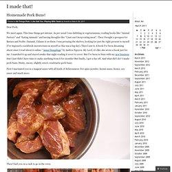 Homemade Pork Buns! & I made that! - StumbleUpon