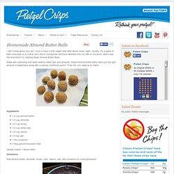 Homemade Almond Butter Balls