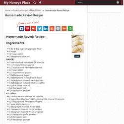 Homemade Ravioli Recipe