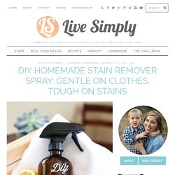 DIY Homemade Stain Remover Spray: Gentle on Clothes, Tough on Stains