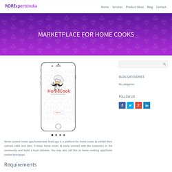 Home Cooked Food Apps, Best Homemade Food Finder Mobile App, RORExpertsIndia