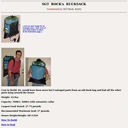 Homemade Rucksack