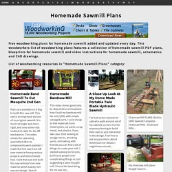 Homemade Sawmill Plans - Downloadable Free Plans
